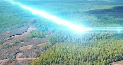 Художественная реставрация падения Тунгусского метеорита