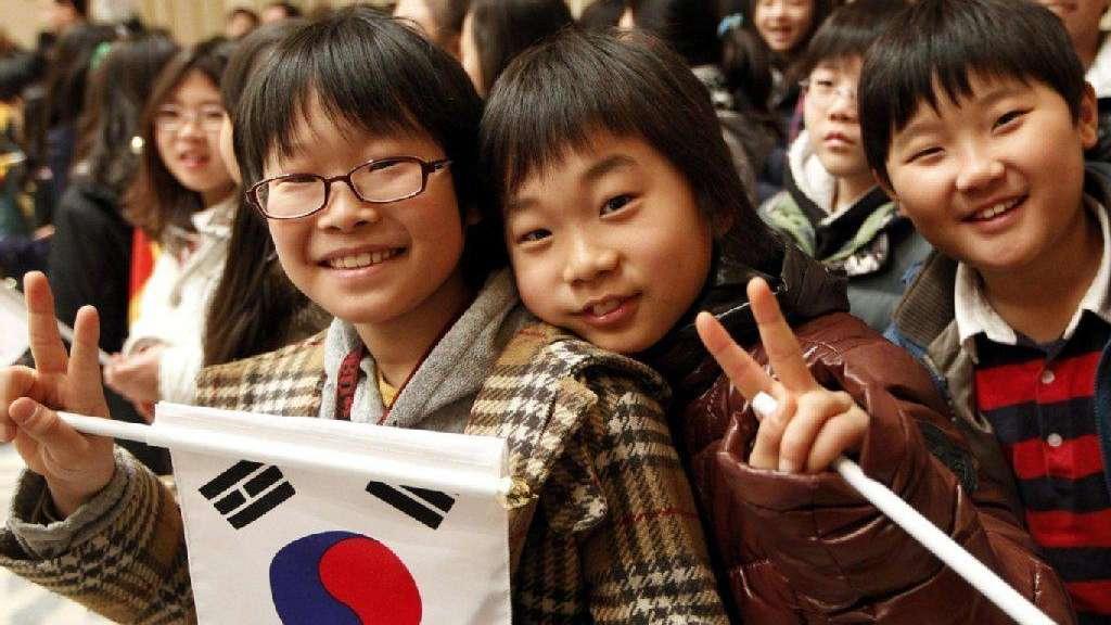 Корейские школьники