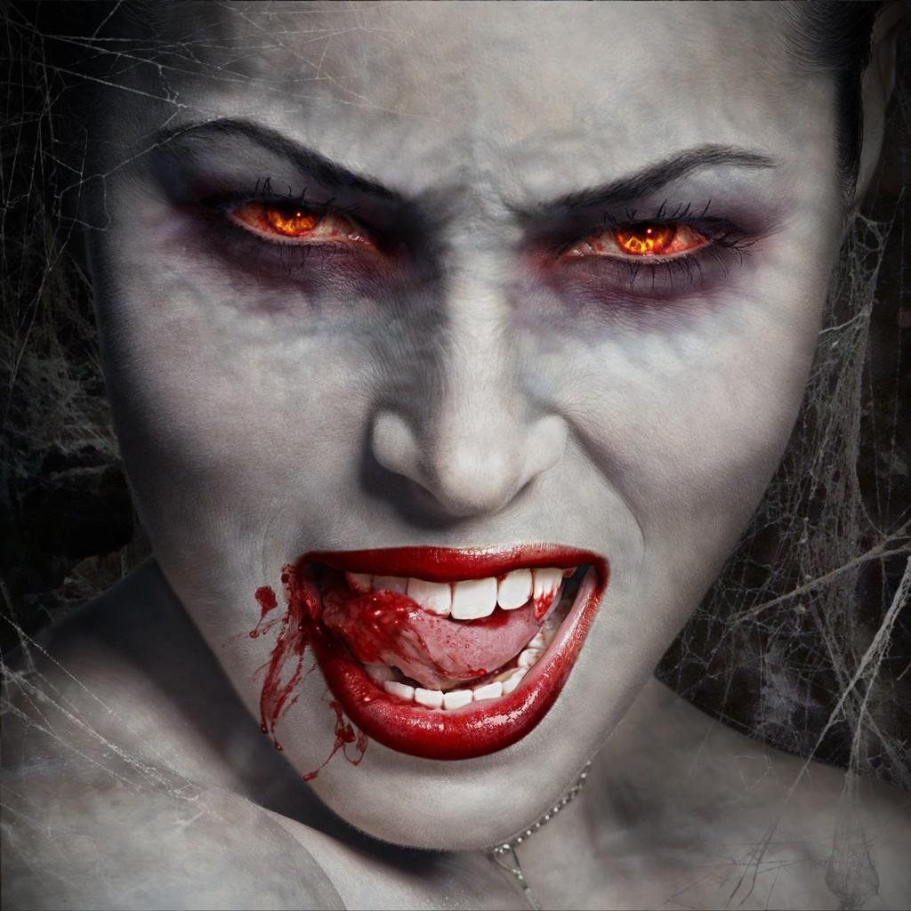 """Вампирша"" в гриме"