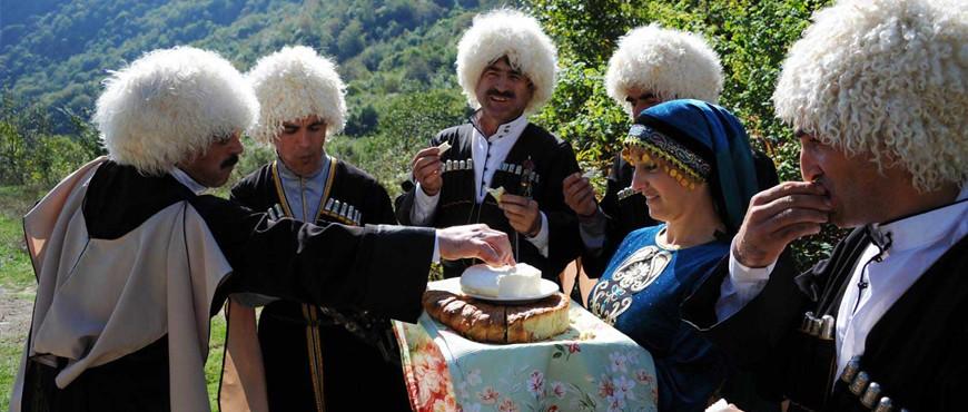 Встреча гостей на Кавказе