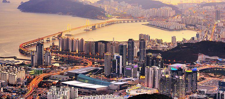 Вид на корейский мегаполис
