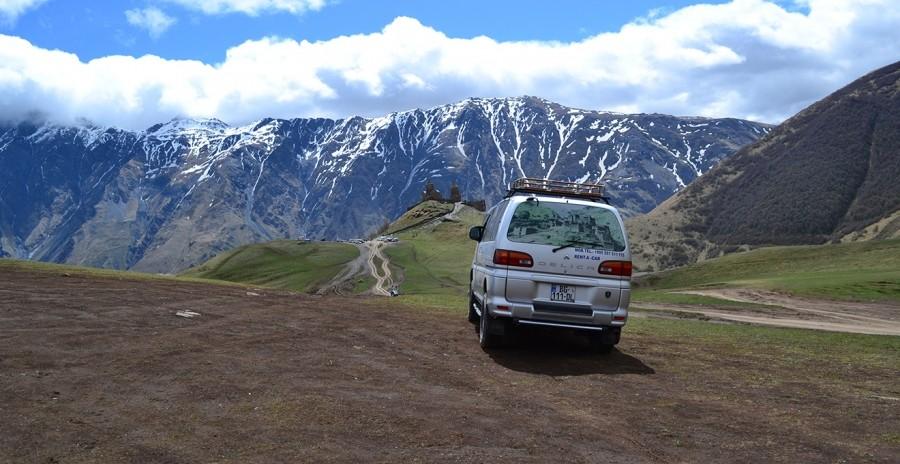 Авто, дорога, горы