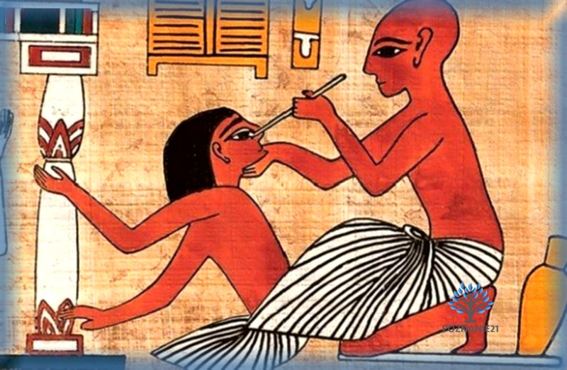 Лекарь и пациент - фреска