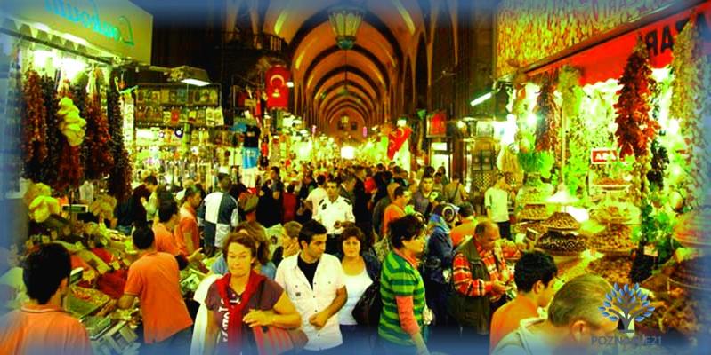 Крытый рынок в Турции