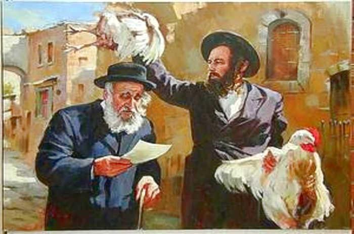 Традиционное обращение с жертвенной курицей