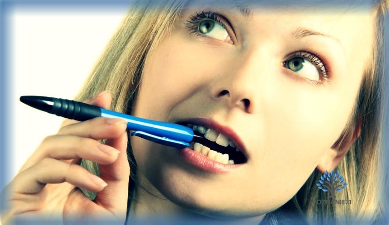 Ручка во рту