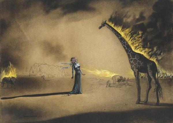 Пылающий жираф