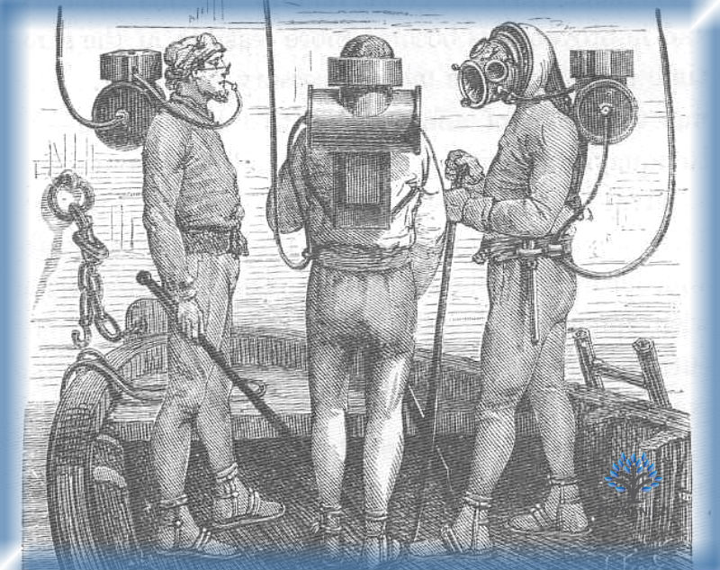 Ныряльщики в аппаратах Рукейроля-Денейруза