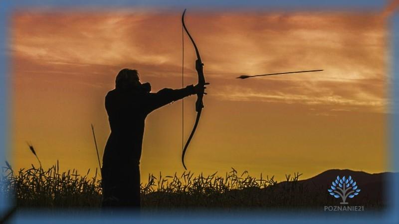 Стрельба с лука на закате