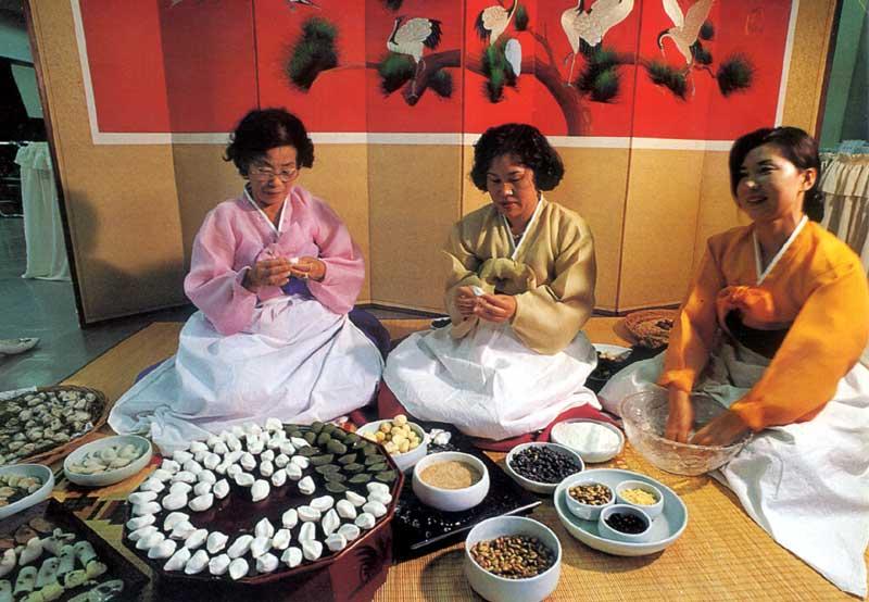 традиционный корейский стол