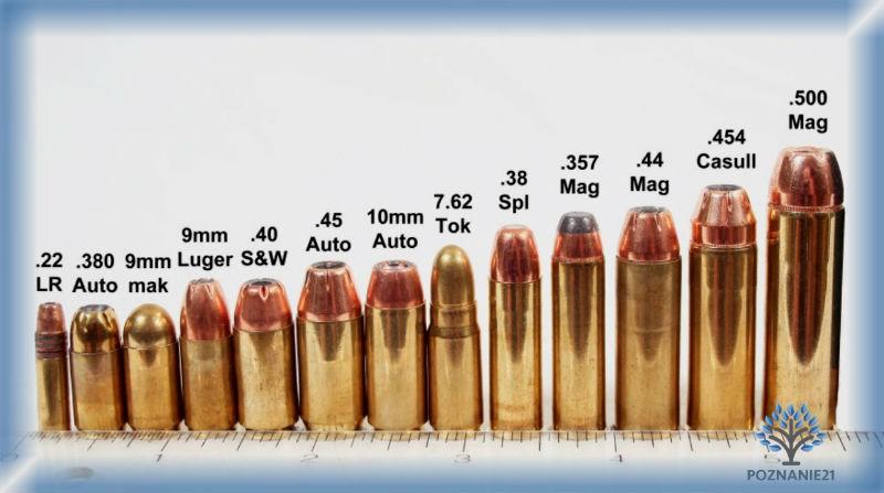 Так выглядят пистолетные патроны различных калибров