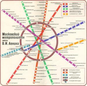 сетка метро