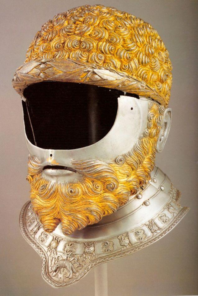 шлем с бородой