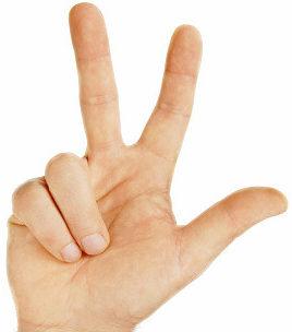 Какой палец средний?