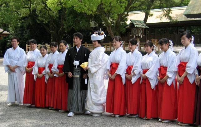 традиционная свадьба в Японии
