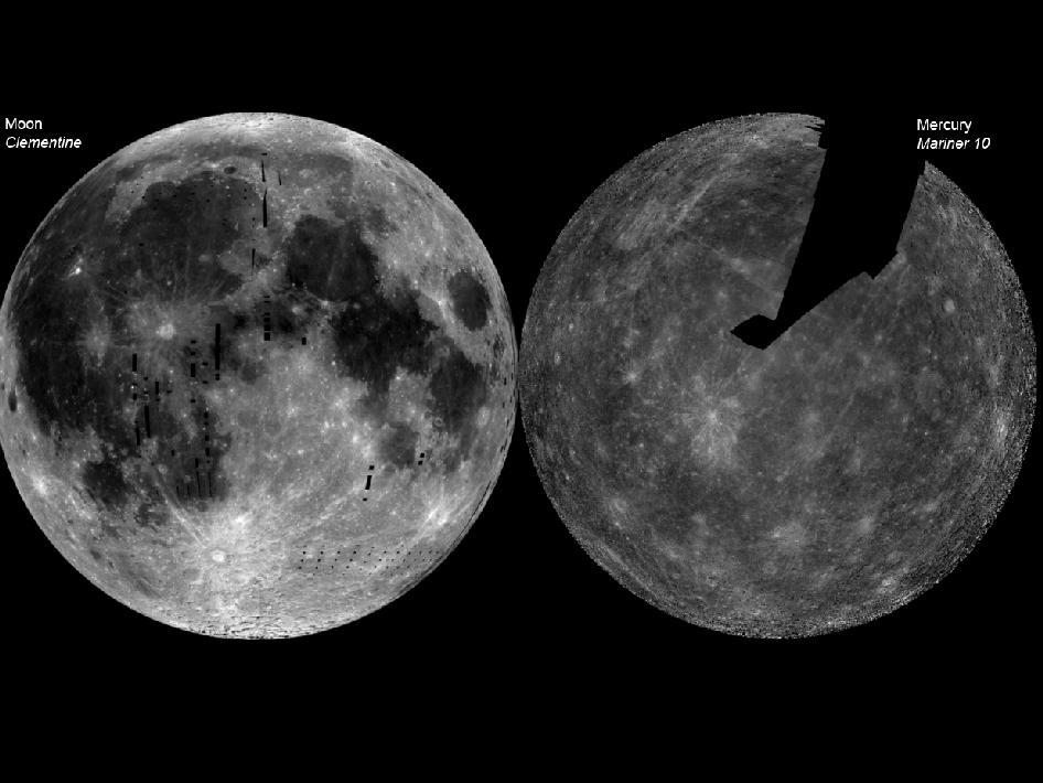 Меркурий и Луна