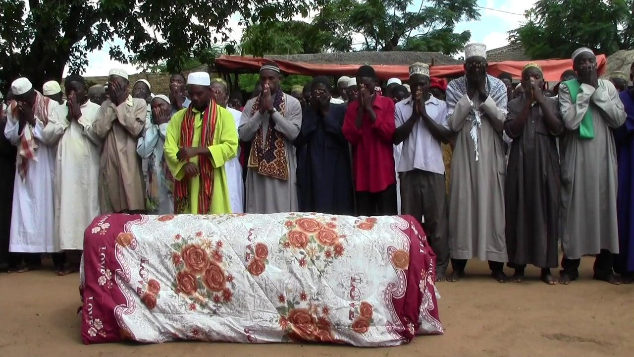Чтение похоронной молитвы
