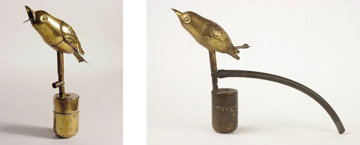Чирикающая латунная птичка