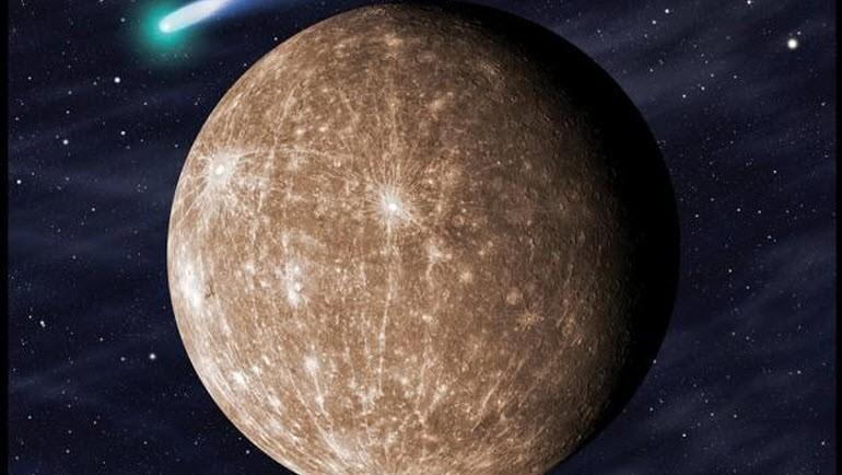 Меркурий, цветное фото