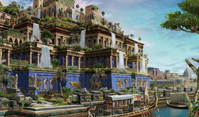 Как могли выглядеть висячие сады Семирамиды