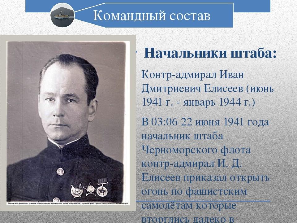 Контр-адмирал Иван Елисеев