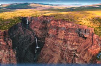 Каньон на плато Путорана