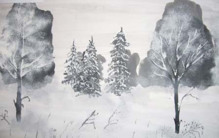 """Урок изобразительного искусства, 3-й класс. Тема: """"Красавица-зима"""" : МХК и ИЗО"""